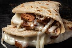 Pork Chicharron Quesadillas
