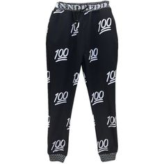 7ec57fc8d49 Black Womens 100 Points Printed Cute Jogging Sweatpants ( 25) ❤ liked on Polyvore  featuring