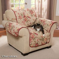 Lexington Floral Furniture Covers. I can see myself making it in leopard print with black edging.