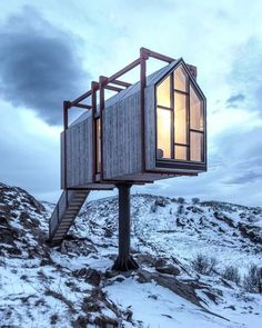 "29.1k Likes, 152 Comments - designboom magazine (@designboom) on Instagram: ""on the picturesque #fleinvær island in norway, TYIN tegnestue and rintala eggertsson architects…"""