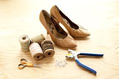 Make Sailor Neptune shoes (It's easy to use spray adhesive and fabric, or even spray paint and protective coat, to change shoe colors)
