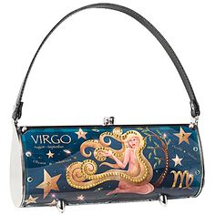 Astrology-themed Virgo purse made from recycled license plates. $197.95