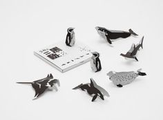 The best of modern Japanese design and craftsmanship from ceramics to glass to notebooks & pencils from top Japanese designers. Japanese Stationery, Animal Cards, Japanese Design, Three Dimensional, Packaging Design, Black And White, White Sea, Handmade Gifts, Paper