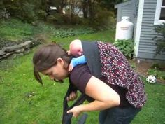 Strapless Back Carry with Newborn Podeagi; also a good video for getting a newborn on your back in any carrier.