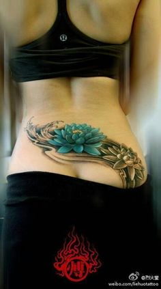 Blue lotus ... don't love the placement but do love the color