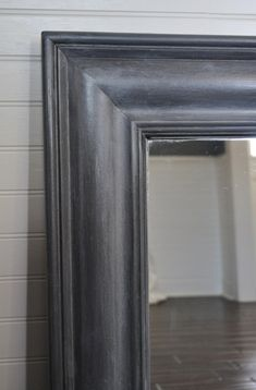 Repaint a mirror frame with zinc Shabby finish tutorial and 45 BEST Shabby Lifestyle Decor & Accessory DIY Tutorials EVER!! From MrsPollyRogers.com