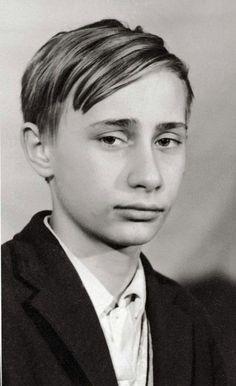 Vladimir Putin in 1966 world leaders as young people