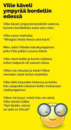 Vitsit: Ville käveli ympyrää bordellin edessä - Kohokohta.com