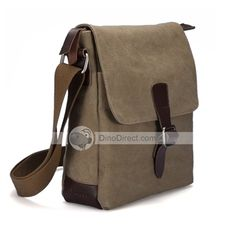 12a648e9ce MUZEE Men Canvas Flap Messenger Shoulder Bag - DinoDirect.com