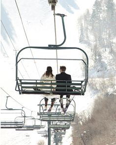 The Bride and Groom #wedding #winter #details #decor #inspiration #ski #snow