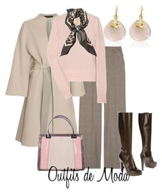 Frío, Frío by outfits-de-moda2 on Polyvore featuring moda, Marc Jacobs, The Row, Alice + Olivia, Monica Vinader, Maria Cristina, GUESS and Weekend Max Mara