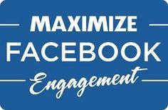 Maximize Your Facebook Engagement  http://www.fastfacelikes.com/2017/03/maximize-facebook-engagement.html    #socialmediamarketing #facebookmarketing #facebooklikes #contentmarketing