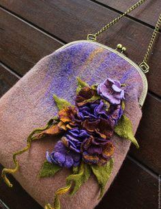 Купить Сумка валяная Летние свидания - комбинированный, сумка валяная, сумка валяние, Валяние, войлок