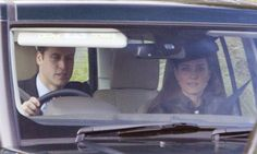 Prince William is driving Mrs. Catherine to Crathie Church in Balmoral - but there's no sign of Prince George who met his Great-Gramps, Prince Philips for the first time in Scotland.