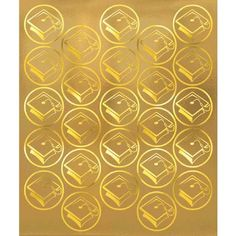 Embellish your graduation party invitations with our gold graduations mortarboard sticker seals. Our Gold Mortarboard Graduation Sticker Seals feature circular stickers with a golden embossed graduation cap. Package contains 50 gold graduation seals.