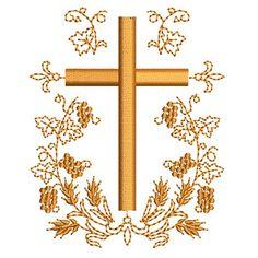 CRUZ COM TRIGOS E UVAS 9 CM