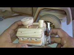 Motor a escala v8 hecho en madera - YouTube