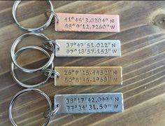 Coordinates Keychain