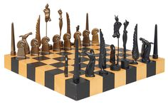A chess game with board and bronze figures - Paul Wunderlich - Also saw this chess set - fantastic