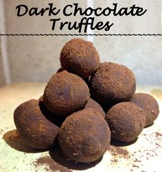 This 3 ingredient rich, dark, creamy chocolate truffles are great for those days when nothing but chocolate will do. And for around 90-100 calories per portion (8-12 balls) this is guilt-free. They are also vegetarian, sugar-free, low-carb, low-calorie, high in protein, and high in fiber!