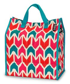 Take a look at this Teal & Pink Ikat Shop Cooler by PackIt on #zulily today!