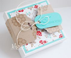 Stampin' Cards And Memories: Just For You - Banderole mit Stanzer Gewellter Anhänger (Scalloped Tag Topper Punch) / SU, Box-Idee: Envelope Punch Board