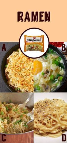 Ramen 4 Ways | 14 Easy Meal Upgrades For Impossibly Lazy Cooks studying tips, study tips #study #college