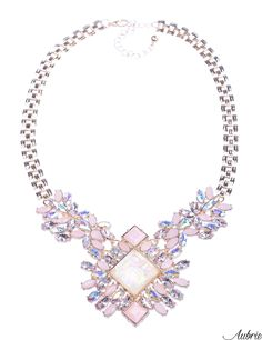 #aubrie #aubriepl #aubrie_necklaces #necklaces #necklace #jewelery #accessories #minty #pastel #colorful #shine #crystal