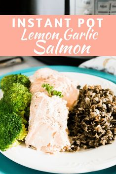 You will absolutely love this delicious recipe for Instant Pot Lemon Garlic Salmon. Thanks to the Instant Pot, It is SO easy and quick to make! Impress your family and friends with this amazing salmon recipe that tastes great, and is great for you! Quick Salmon Recipes, Fish Recipes, Healthy Snacks, Healthy Recipes, Eating Healthy, Delicious Recipes, Healthy Living, Best Dessert Recipes, Breakfast Recipes
