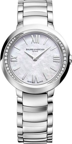 Baume et Mercier Watch Promesse #add-content #bezel-diamond…