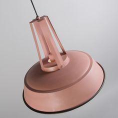 Lámpara colgante JOOP rosa blanco #industrial #diseño #interiorismo