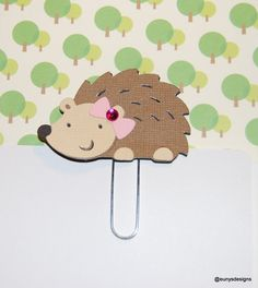 Hedgehog Paperclip on Etsy, $1.20