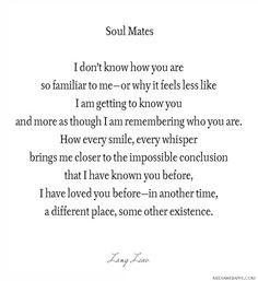 ~soulmates by Lang Leav #beautiful