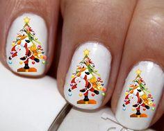 20 pc Christmas Tree Santa Elf Winter Season Nail Art Nail Decals #cg2108na1