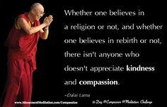 Day Everyone appreciates kindness & compassion ~ Dalai Lama Reiki, John Lloyd Young, Spa, Extraordinary People, Dalai Lama, Spiritual Life, Amazing Quotes, People Around The World, Positive Affirmations