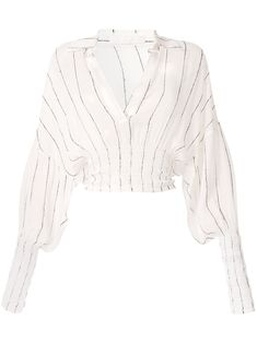 Dion Lee Shirred Stripe Ggt Blouse In White Classy Outfits, Cute Outfits, Beautiful Outfits, Outfits Kombinieren, Dion Lee, Looks Style, Alternative Fashion, Fashion Outfits, Womens Fashion