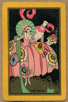 SINGLE SWAP PLAYING CARD - vintage victorian man woman umbrella aceo drawing