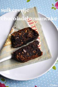 CAKE - Suikervrije chocoladebanaancake - Fiekefatjerietjes
