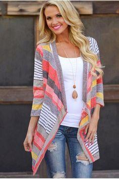 Nici Multi-Color Striped Cardigan