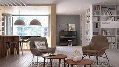 Un gran apartamento en San Petersburgo · An openspace concept apartment in St Petersburg