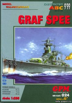Admiral Graf Spee (GPM 024) made of paper, paper model download free. Papercraft, paper model free download template.