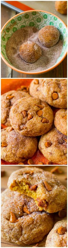 Quick and EASY pumpkin cookies that are rolled in cinnamon-sugar. Chewy and soft without being cakey!