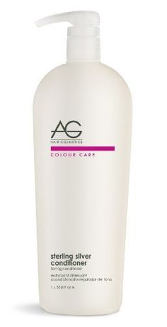AG Hair - Sterling Silver Toning Conditioner 33.8oz by AG. $21.69. Sooths. Shine. Improves Strength. Gentle Conditioner. Polishes out Brassiness. sterling silver conditioner, toning conditioner, A gentle conditioner formulated specifically to polish out unwanted brassiness from blonde, highlighted and silver hair. pH 4.5-5.7