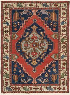 "Antique Late 19th Century Connoisseur-Caliber Northwest Persian Bakshaish Rug 4' 7"" x 6' 5"" - Claremont Rug Company"
