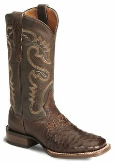 Dan Post Women's Junction Ostrich Cowgirl Boot Wide Square Toe Tobacco 7.5 M US, Dan Post Boot Co. captures the spirit of the West and today's fashion sensibilities in this elegant inlay boot. This Women'†s Dan Post Boot features a black ostrich leather foot under a 12 black le..., #Apparel, #Boots