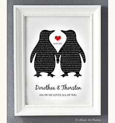 "Romantischer Druck für die Hochzeit, ""Euer Song"" als Poster / romantic wedding gift, your song as artprint by Abouki Art Factory via DaWanda.com"