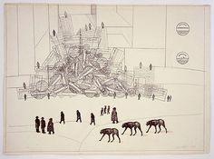 Saul Steinberg: Untitled (Traffic Jam), 1969