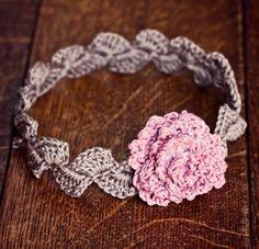 crochet head band                                                                                                                                                                                 Más