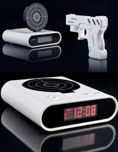 awesome, you have to shoot the target to turn off the alarm..