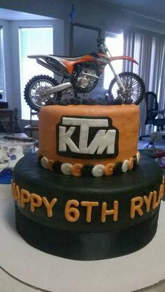 Pierlucs birthday cake KTM motocross Birthday Cakes TORTAS